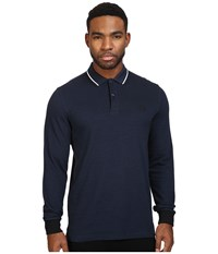 Fred Perry Long Sleeve Twin Tipped Shirt Service Blue Black Oxford White Black Men's Clothing Navy