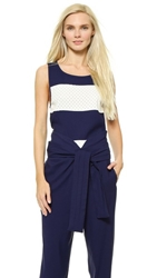 Jay Ahr Sleeveless Top Blue White