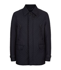 Brioni Quilted Silk Jacket Male Navy
