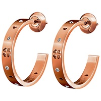 Folli Follie Love And Fortune Earrings Rose Gold