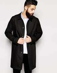 Asos Trench Coat In Lightweight Black
