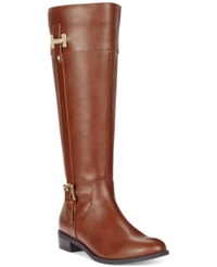 Karen Scott Deliee Wide Calf Riding Boots Women's Shoes Cognac