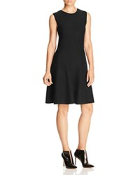 Magaschoni Fit And Flare Cashmere Dress Black