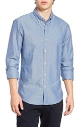 Scotch And Soda Men's Extra Slim Fit Triangle Chambray Shirt