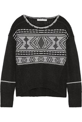 Duffy Fair Isle Merino Wool Blend Sweater