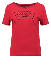 Vans Auth Water Print Tshirt Red