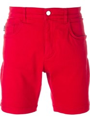 Love Moschino Denim Shorts Red