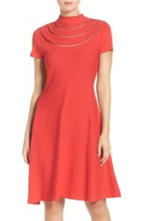Eliza J Women's Cutout Fit And Flare Dress Poppy