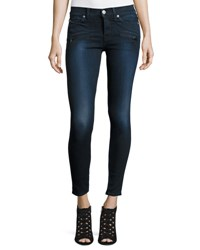 Hudson Roe Mid Rise Skinny Ankle Jeans Corps 2 Indigo