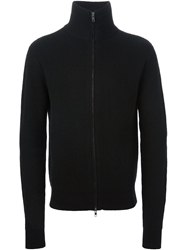 Ann Demeulemeester Ribbed Knit Cardigan Black