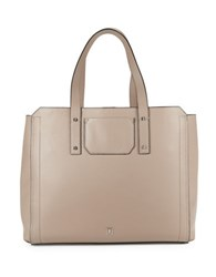 Ivanka Trump Soho Work Solutions Portable Charger Leather Tote Pale Taupe