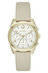 Dkny Women's 'Crosby' Chronograph Leather Strap Watch 36Mm