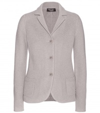 Loro Piana Mirabel Knitted Cashmere Blazer Grey