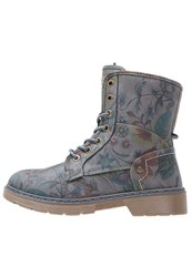 Mustang Laceup Boots Dunkelgrau Multicolor Blue