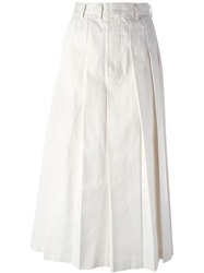 Comme Des Garcons Vintage Long Pleated Skirt White