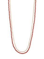Astley Clarke Red Agate And White Sapphire Long Beaded Hamsa Charm Necklace Gold Red Agate