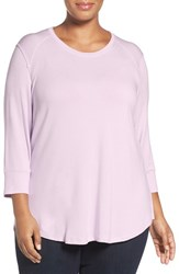 Melissa Mccarthy Seven7 Plus Size Women's Survival Basic U Neck French Terry Top