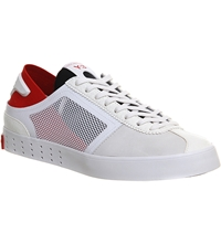 Adidas Y3 Lazelle Trainers White Red Black