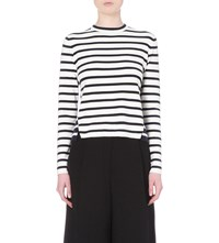 Whistles Striped Knitted Top Multi Coloured
