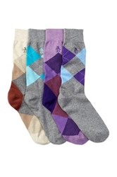 Original Penguin Argyle Socks Pack Of 4 Multi