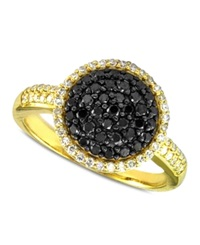 Effy Collection Caviar By Effy Black And White Diamond Dome Ring 5 8 Ct. T.W. In 14K Gold