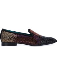 Louis Leeman Crystal Embellished Slippers Multicolour