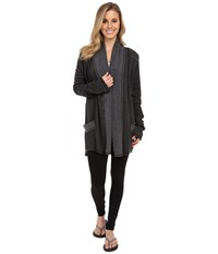 Hard Tail Slouchy Cardigan Black Women's Sweater