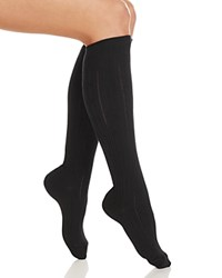 Hue Cable Knee Socks Black