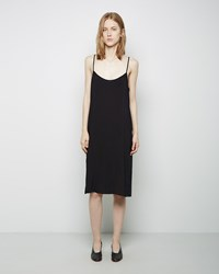 La Garconne Moderne Portrait Slip Dress Black