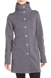 Women's Patagonia 'Better Sweater' Button Front Shirred Coat Feather Grey