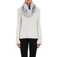 Barneys New York Women's Knitted Mink Cowl Scarf Light Grey
