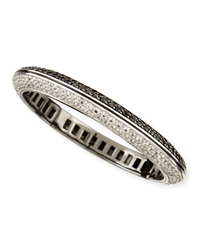 Pave White Zircon And Black Spinel Bangle Bracelet Mcl By Matthew Campbell Laurenza