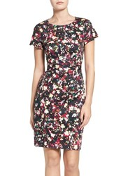 French Connection Women's Midnight Bloom Stretch Cotton Sheath Dress