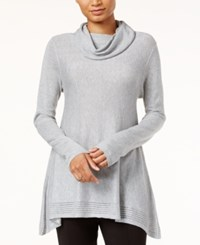 Rachel Roy Margaret Cowl Neck Sweater Medium Heather Grey
