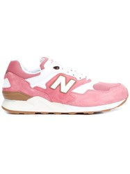 New Balance Extended Sole Perforated Detail Sneakers Pink And Purple