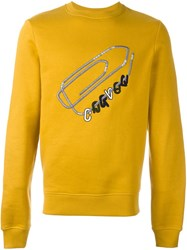 'Carven' Printed Sweater Yellow And Orange