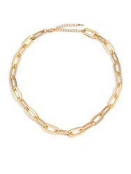 Jules Smith Designs Oversized Cable Link Necklace Gold