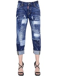 Dsquared Workwear Stitched Patchwork Denim Jeans