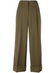 3.1 Phillip Lim Cropped Wide Leg Trousers Green
