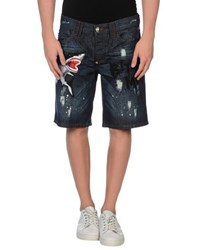 Philipp Plein Denim Denim Bermudas Men