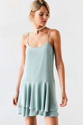 Kimchi And Blue Tiered Drop Waist Mini Dress Mint