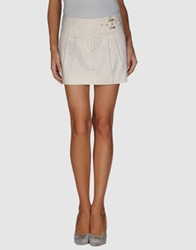 Amy Gee Mini Skirts Ivory