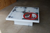 John Beck Paper And Steel Work Coffee Table