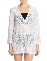J Valdi Daisy Lace Cover Up White