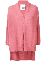 8Pm Long Knit Cardigan Pink And Purple