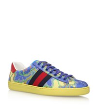 Gucci Ace Flower Jacquard Sneakers Male Yellow