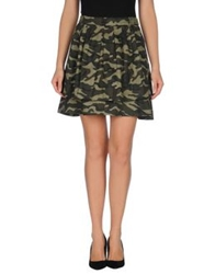 Beayukmui Knee Length Skirts Military Green