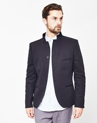Selected Zero Short Clive Blazer Navy Id