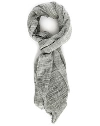 Bill Tornade Grey Slubbed Cotton Scarf