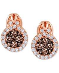 Le Vian Chocolatier Diamond Circle Earrings 1 3 8 Ct. T.W. In 14K Rose Gold